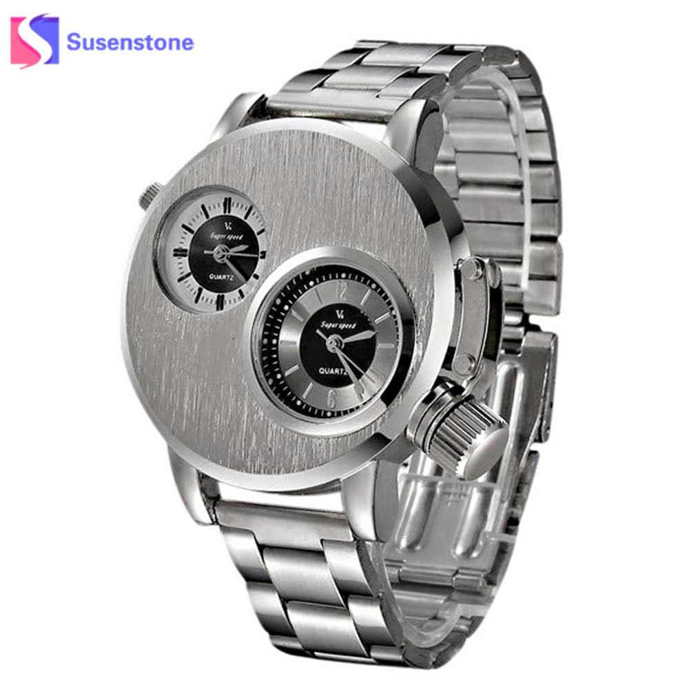 New Mens Fashion Stainless Steel Date Military Sport Quartz Analog Wrist Watch Men Elegant Casual Wrist Watch Relogio Masculino superior new fashion men s luxury concept stainless steel analog quartz sport wrist watch wholesale free shipping