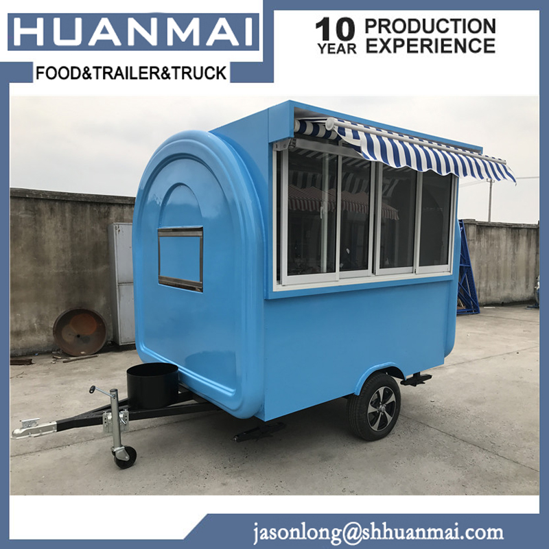 Hamburg Food Kiosk BBQ Food Trailers Caravan Camper Trailer 2300x1850x2300mm