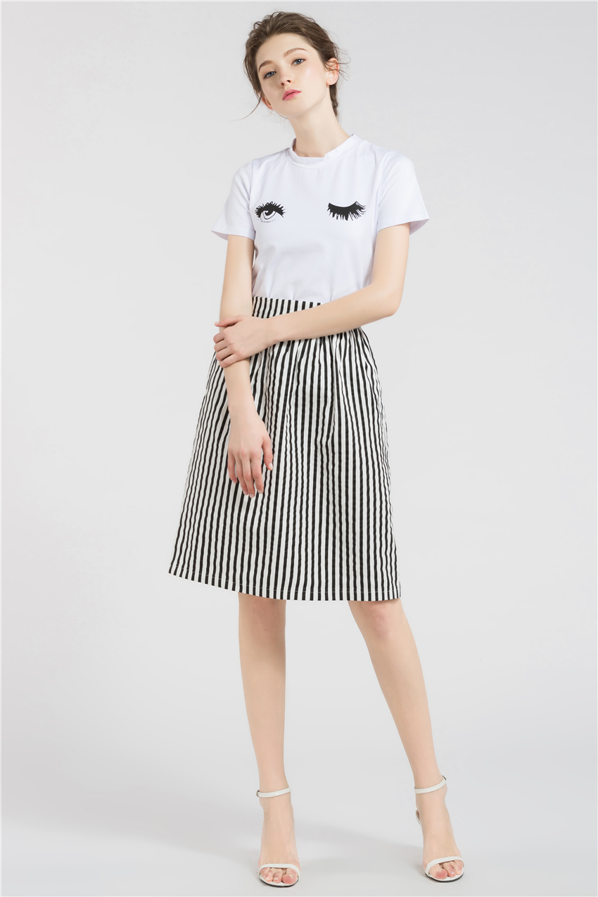 HTB1iTKURXXXXXcHXFXXq6xXFXXX0 - Long Skirts Women Loose Striped Skirt  JKP008