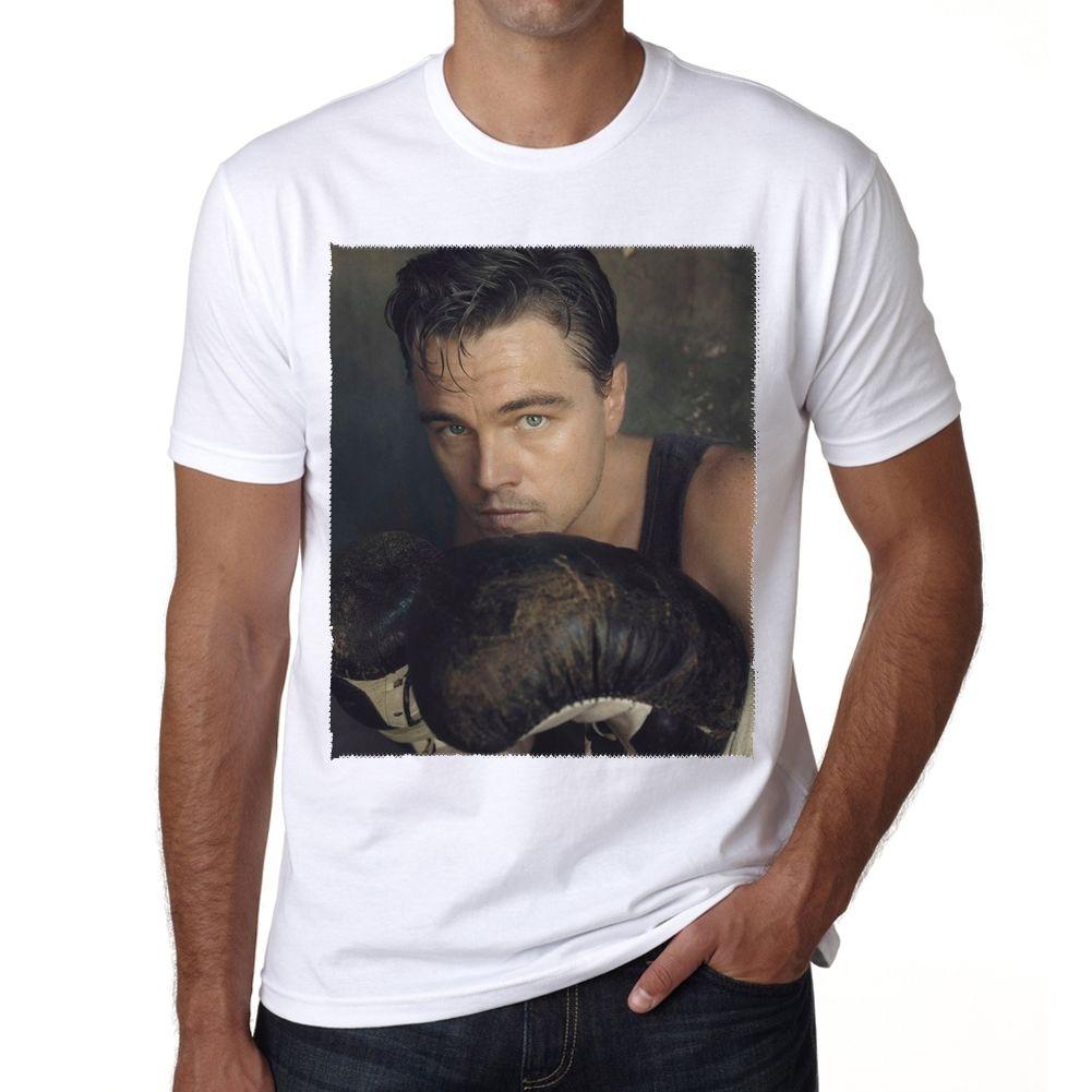 Леонардо Ди Каприо коробке знаменитости Herren футболка Rude Топ Ти шею