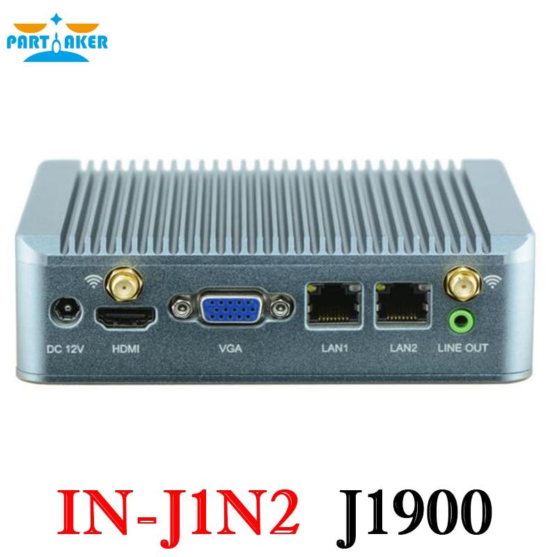 Partaker Mini Nano PC Intel Quad Core J1900 With Support Wake On LAN PXE Watchdog 3G GPIO