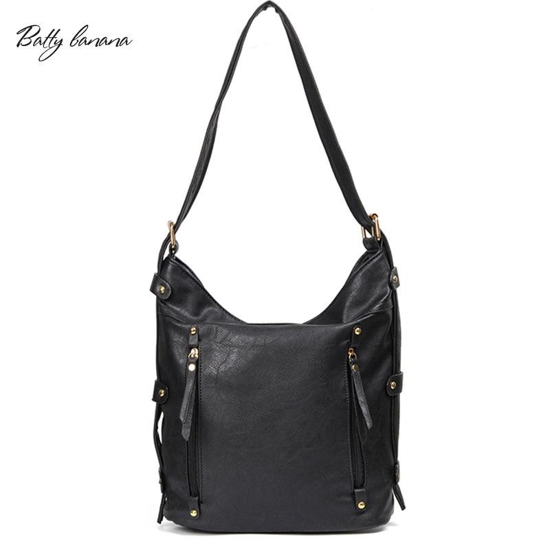 BATTY BANANA Designer Shoulder Bag Women Tote Bag High Quality Leather Handbags Fashion Messenger Bags For Women 2018 Female Bag