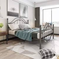 European style vintage iron frame bed 1.8 meters adult double iron art bed 1.5 meters simple princess bed