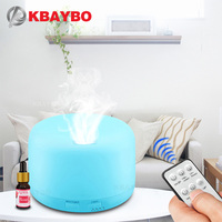 KBAYBO Remote Control Ultrasonic Air Aroma Humidifier 7 Color LED Lights Electric Aromatherapy Essential Oil Aroma