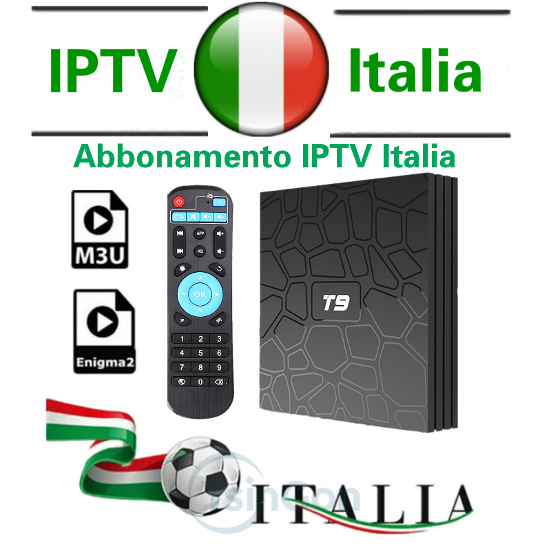 T9 SMART 4000 canales + Vod Italia IPTV Europa IPTV android box compatible  con Android m3u enigma2