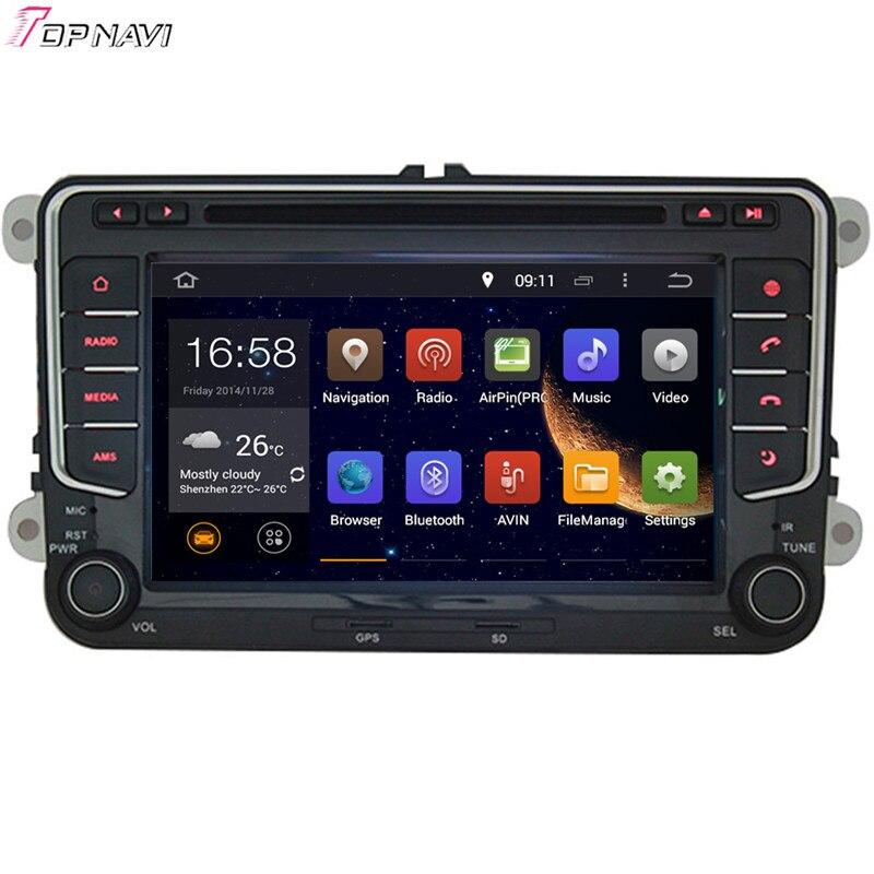Lecteur DVD de voiture TOPNAVI 7 ''Quad Core Android 6.0 pour VW PASSAT B6/MAGOTAN V6/PASSAT V6/MAGOTAN variante/PASSAT B7/PASSAT NMS GPS