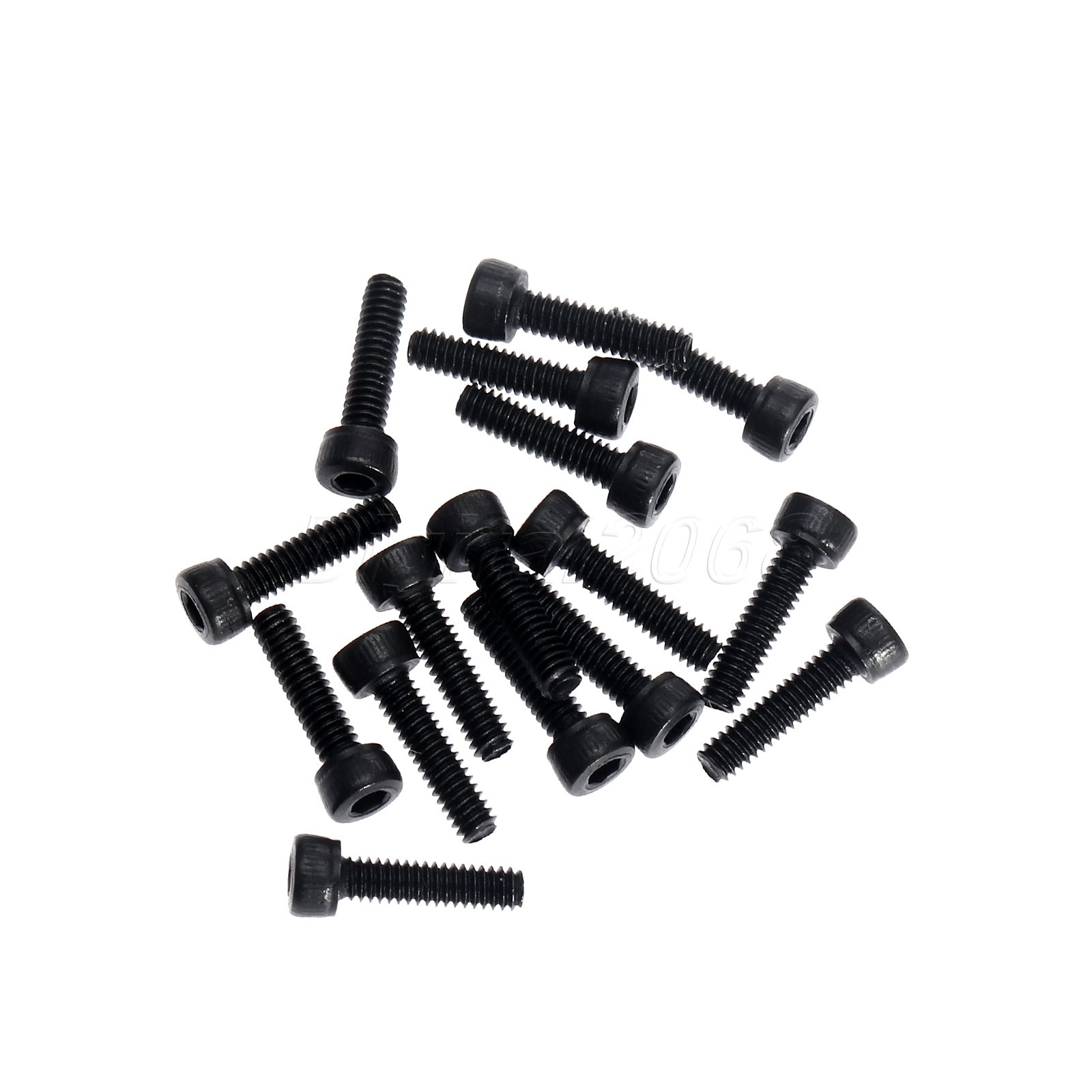 10x 8mm BLACK NYLON PLASTIC FULL NUTS FOR M8 SCREWS AND BOLTS NEW PACK