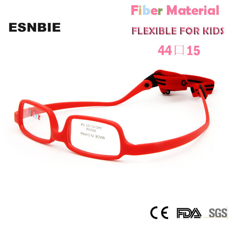 Men's Eyewear Frames Shop For Cheap Esnbie Square Fiber Glasses Frame Unbreakable Children Eyewear With Eleastic Strap Memory Flexible Optical Frame For Kids Strengthening Waist And Sinews