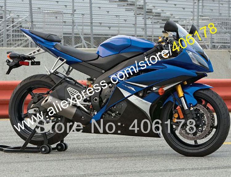 Hot Sales,For Yamaha 2008 2009 2010 2011 2012 2014 2015 2016 YZF R6 YZFR6 YZF R6 YZFR600 Blue black Fairings (Injection molding)