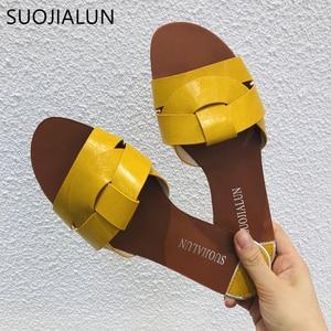 Image 5 - 2019 חדש מותג מעורב צבעים נשים נעל Pllus גודל 35 41 נשים קיץ חוף שקופיות כפכפים חיצוני שטוח נעל