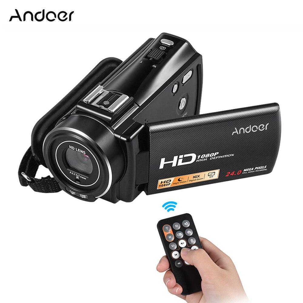 Andoer 1080P Full HD 24MP Portable Digital Video Camera Camcorder Infrared Night Vision Recorder Cam HDV