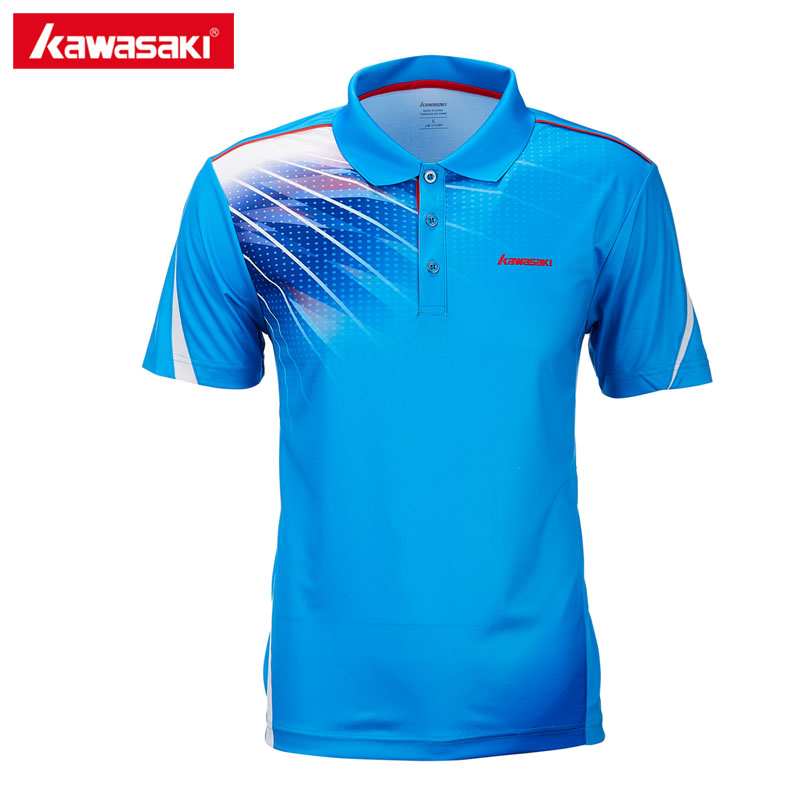 2018 Original Kawasaki Brands Men Polo Shirts Short Sleeve Quick Dry Polyester Mens Tennis T-Shirt Sports Clothing ST-T1011 все цены