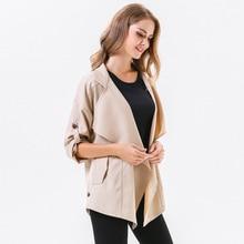 ZYSK Women Trench Coats Asymmetric Long Sleeve Ladies Stylish Loose Cardigans Autumn Winter Casual Thin Slim Fit Windcoats
