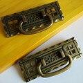 Rustico Retro bronze gaveta do armário móveis handle pull knob dresser maçaneta da porta de bronze antigo do vintage instável da gota anéis de punho