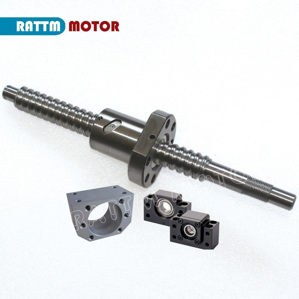 20 мм проката Ballscrew SFU2005 L300 ~ 1000 мм + 2005 ballnut + BK/BF15 Конец Поддержка + гайка корпус