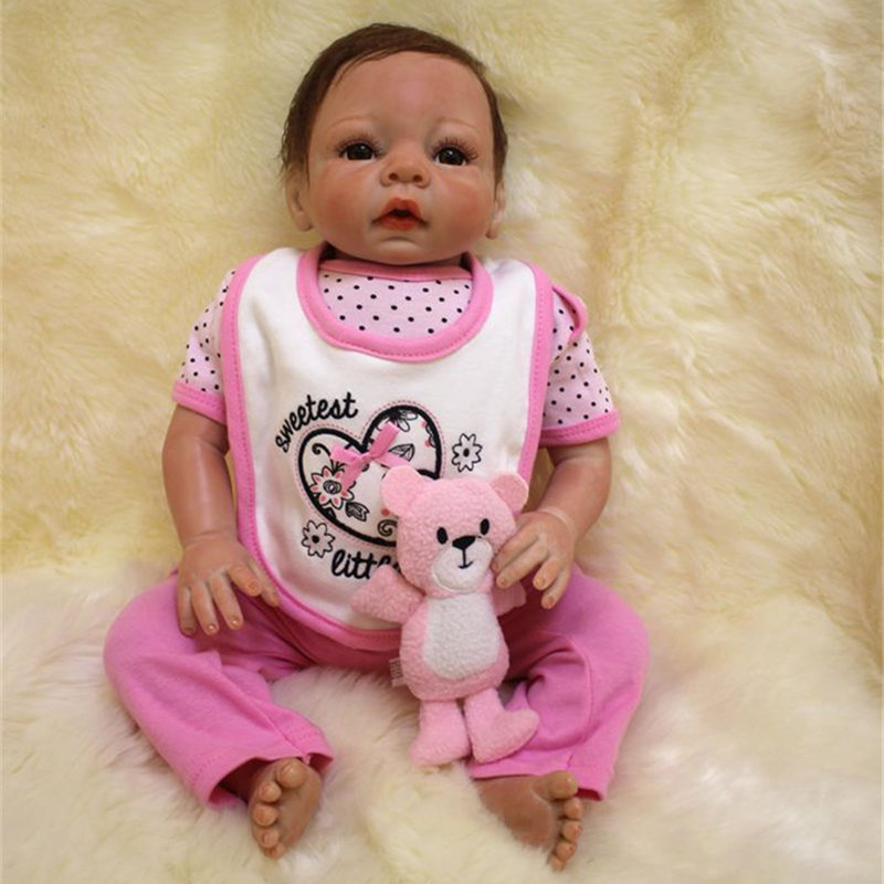 50cm Silicone reborn baby doll toy like real 20inch newborn princess babies doll bebe reborn girls bonecas birthday gift present 55cm full silicone reborn baby doll toy real touch newborn princess toddler babies alive bebe doll with pacifier girl bonecas