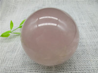 Natural Stone Natural Pink Rose Quartz Magic Crystal Healing Ball Sphere Chakra Healing Reiki Stone Carving Crafts ball 82MM