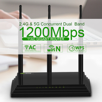 Wavlink AC 1200Mbps Wireless Dual Band Router Gigabit High Speed Antenna Network Signal Receiver
