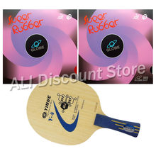 Galaxy Y- 4 Blade with 2x Globe 999 Rubbers with Japan Sponge for a Table Tennis Combo Racket FL(China)