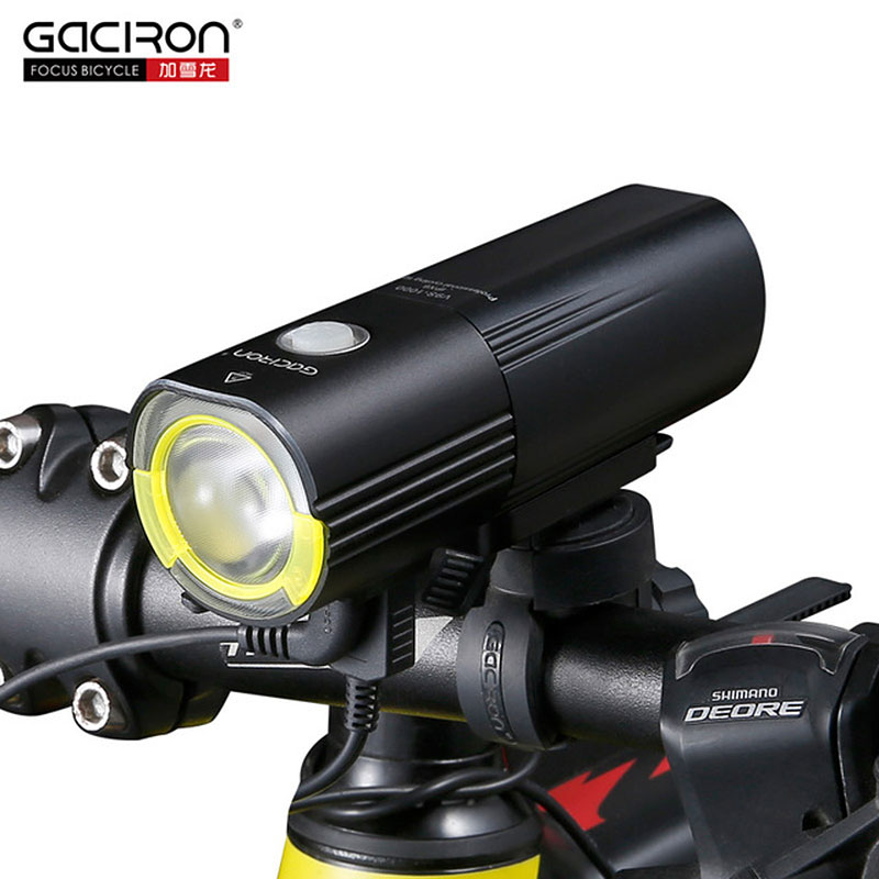 Gaciron V9S Bicycle Headlight USB Charge Internal Battery LED Front Tail Lamp Cycling Lighting Visual Warning Safety Lantern solar energy usb rechargeable 2 in 1 bicycle safety warning lamp cycling bike led front light waterproof headlight black white
