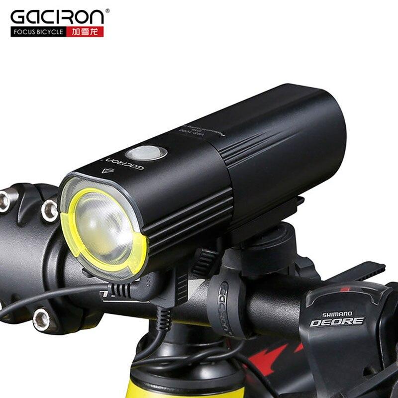 Gaciron V9S Phare De Bicyclette USB Charger la Batterie Interne Avant LED Feu arrière Vélo Éclairage D'avertissement Visuel Sécurité Lanterne