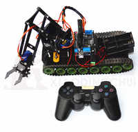 Remote Robot Tank Robot Arm Fire Extinguishing Robot Arduino PS2 Mearm