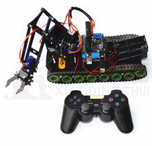 Remote Robot Tank Arm Fire Extinguishing Arduino PS2 Mearm