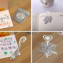Скрепки снежинка закладки корея серебро книга золото металл прекрасный творческий милый