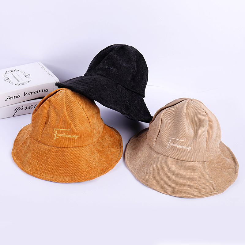 Bucket Hats Leisure Fisherman Hat Outdoor Embroidery Caps Autumn Hip Hop Women Men Couple Sun Cap