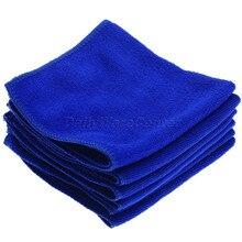6Pcs Blue 30x30cm Auto font b Care b font Microfibre Cleaning Sponge Cloths font b Car