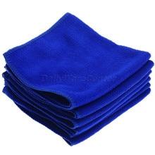 6Pcs Blue 30x30cm Auto Care Microfibre Cleaning Sponge Cloths Car Soft Cloth Magic Glasses Wash Towels Car-Styling Detailing