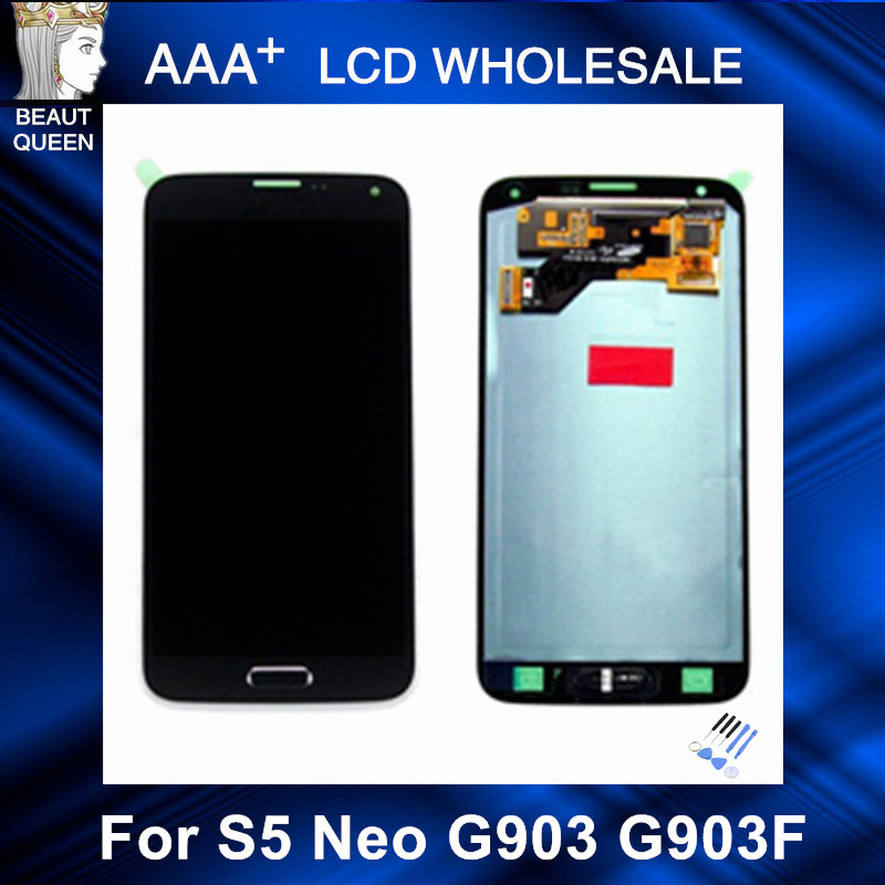 For Samsung GALAXY S5 Neo G903 G903F LCD Display With font b Touch b font font