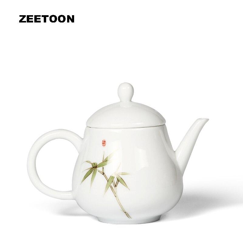 180 ml Zen Style japonais élégant peint à la main bambou théière blanc porcelaine Kung Fu thé ensemble thé Pot bouilloire créative décor à la maison