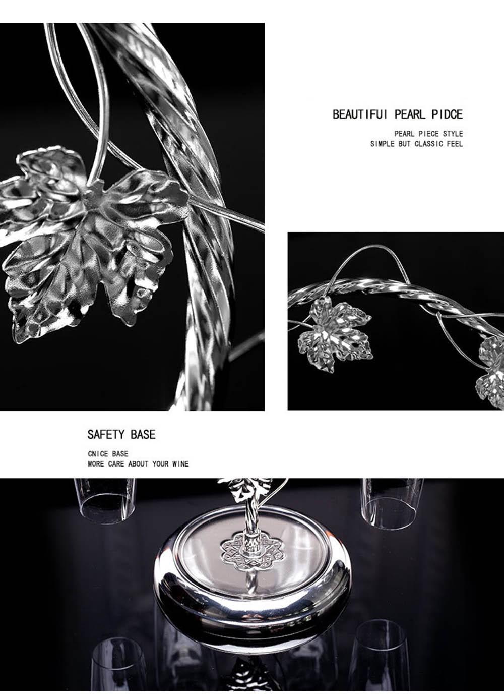 Fashion Decorative Metal Modern Hanging Wine Glass Racks Wine Cabinet Wedding Decor Gift Wine Glass Holder Wine Accessories KC1284 (8)