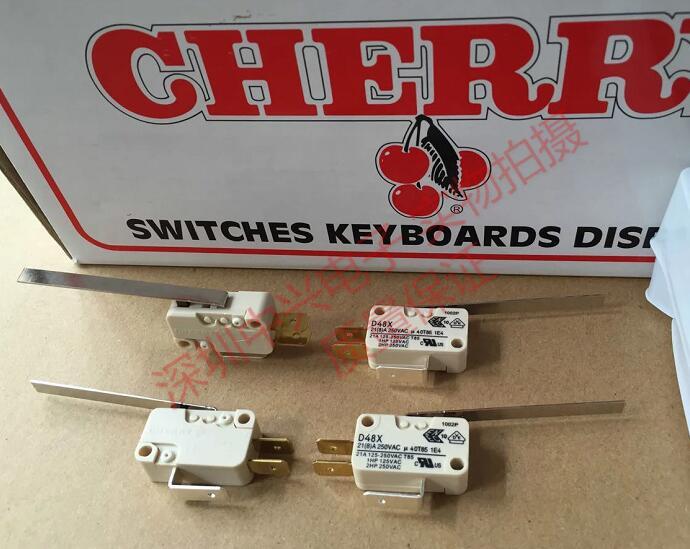 2 pcs lote d48x 21a250v cereja grande interruptor micro 21a 250v 55 milimetros punho