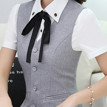 Work wear women's clothing vest skirt suits office uniforms