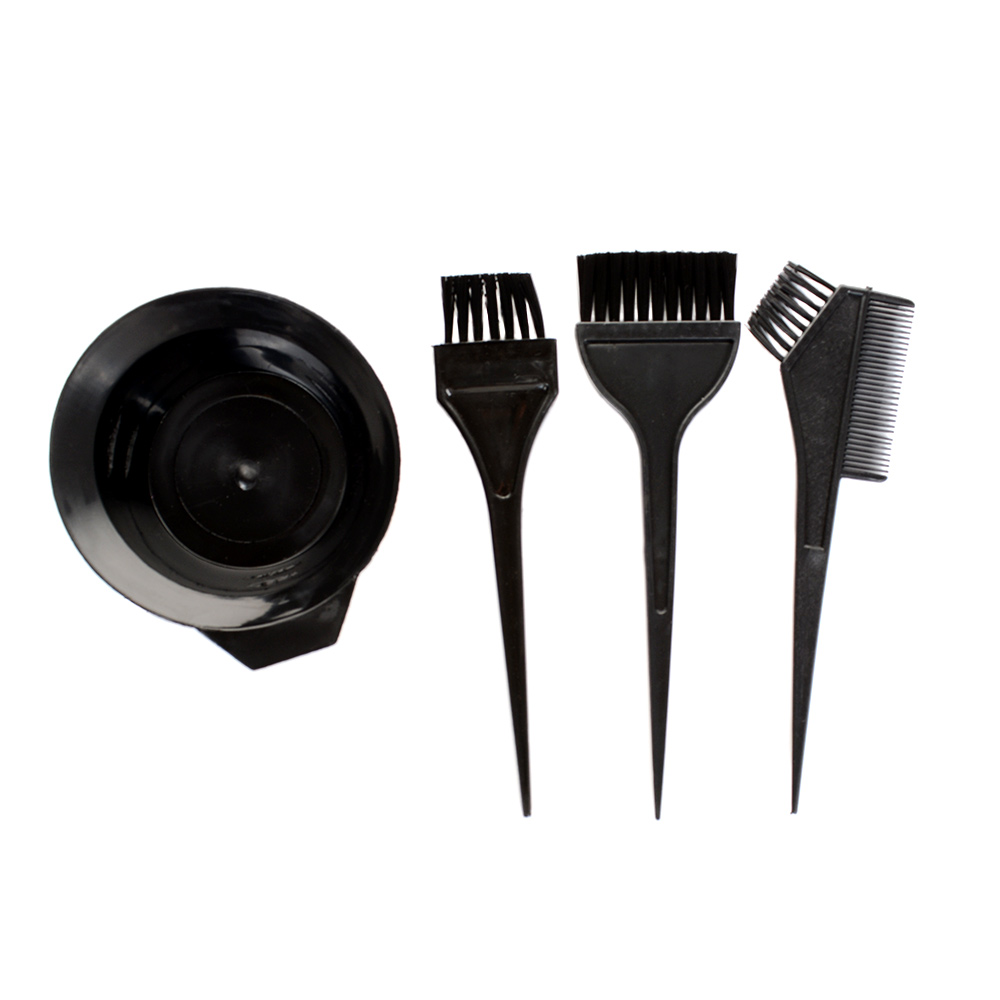 New Hair Color Dye Bowl Comb Brushes Tool Kit Set Tint Coloring Tools Black Plastic Hair Colouring Brush Comb Mixing Bowl