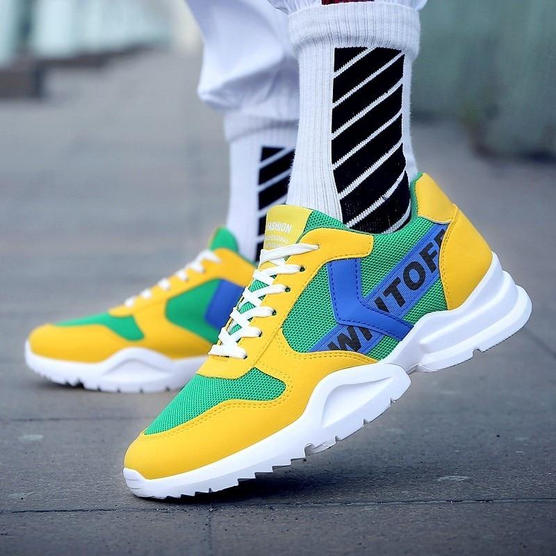 Cestas blanco Hombre Amarillo Casual Zapatillas Hombres Negro Huaraching Zapatos amarillo Blanco Boosts Transpirable Ultra Aire Krasovki qgT6HItw