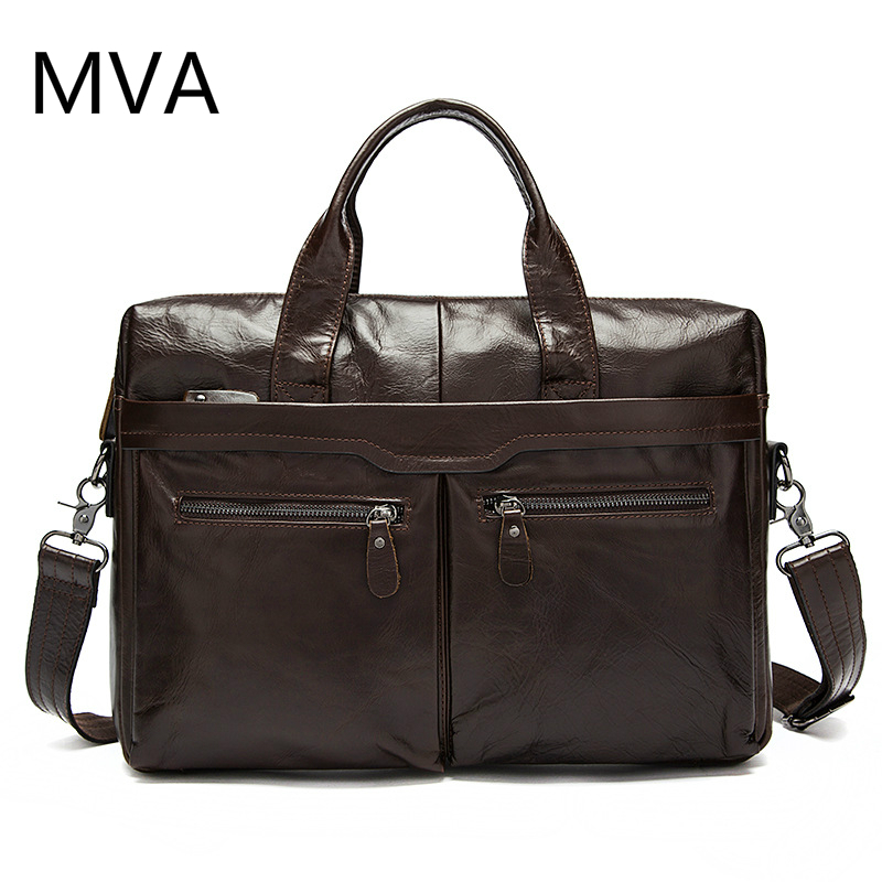 MVA Genuine Leather Bag Men Bag Cowhide Men Crossbody Bags Men's Travel Shoulder Bags Tote Laptop Briefcases Handbags yishen genuine leather bag men bag cowhide men crossbody bags men s travel shoulder bags tote laptop briefcases handbags bfl 048