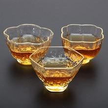 2017 New Heat-resistant Glass Japanese Style Kungfu Tea Cup Artistic glass wine Shot Glass Kung-fu teaware Master Mug Teaware