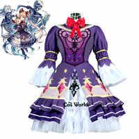 Shadowverse Luna Lolita Vestito Cameriera Uniforme Gioco Vestito Cosplay Costumi
