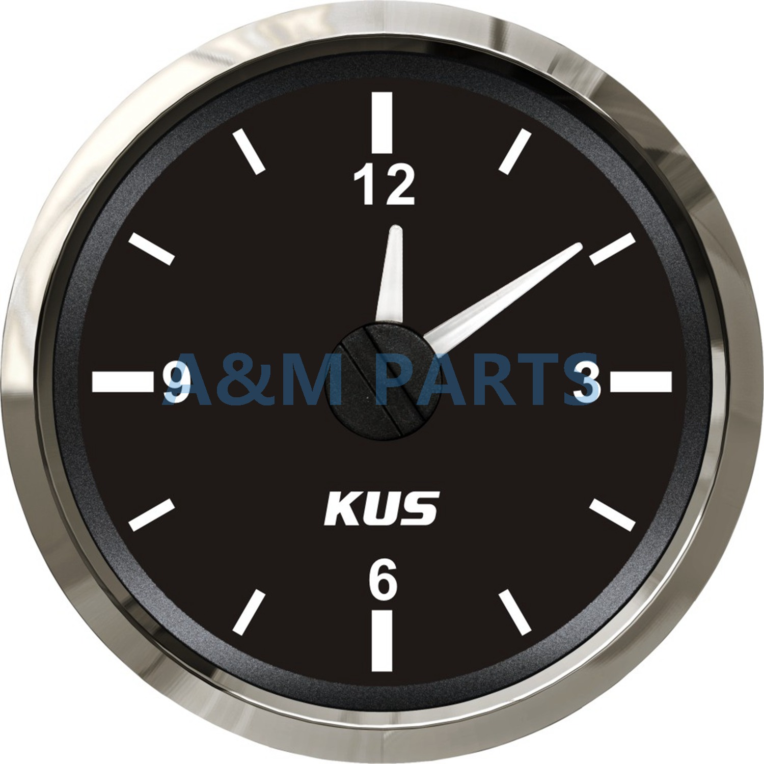 KUS Boat Hour Quartz Clock Gauge Waterproof Marine Car RV Clock Dial 12 Hour 12V/24V датчик kus 12v 24v