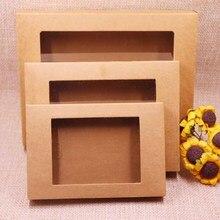 10 шт, новинка, новинка, сделай сам, крафт/винтажная оконная бумажная коробка/Подарочная коробка, свадебная любимая коробка, может быть лого цену на заказ