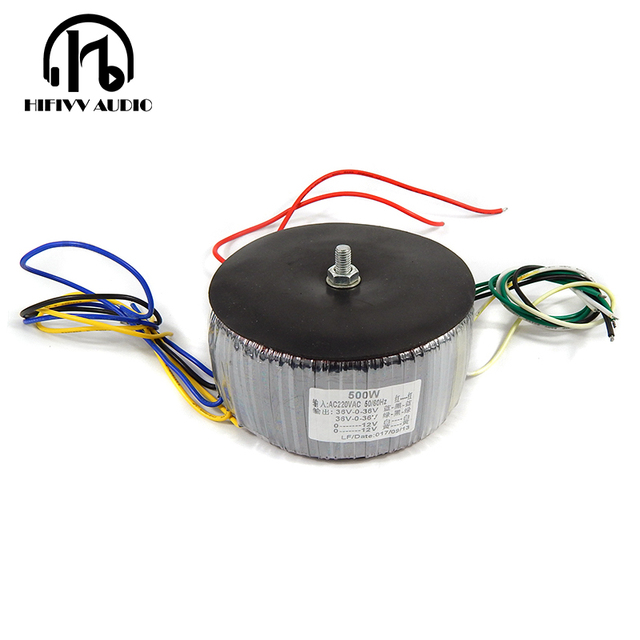 US $46 8 |HIFivv audio copper enamel wire toroidal transformer power  amplifier dedicated circular transformer 500w Output 36V12V-in Amplifier  from