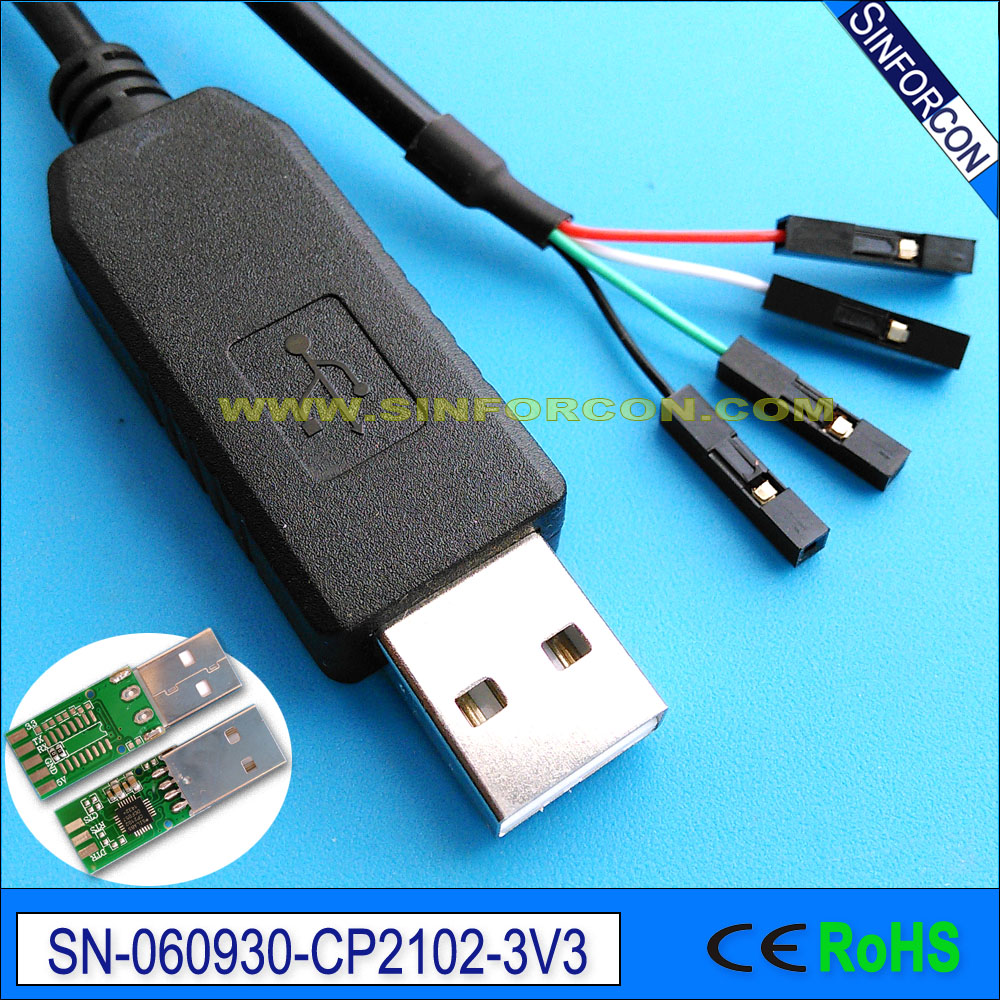 Silabs Cp2102 Usb Ttl 33v Mcu Cpus Plc Flash Upgrade Download Cable Autostar To Wiring Diagram For Raspberry Pi Compatible With Adafruit 954 In Computer Cables Connectors From
