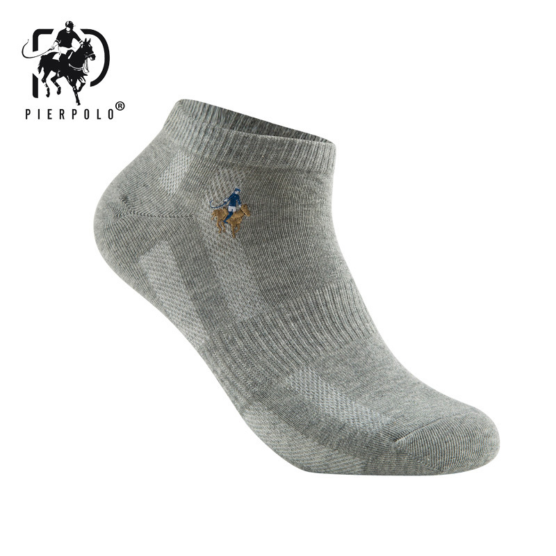 Image 2 - 10 pairs/lot Summer Style Cotton Mesh Short Socks For Men LOGO Embroidery High Quality Business Leisure Sports Male Socks Size-in Men's Socks from Underwear & Sleepwears