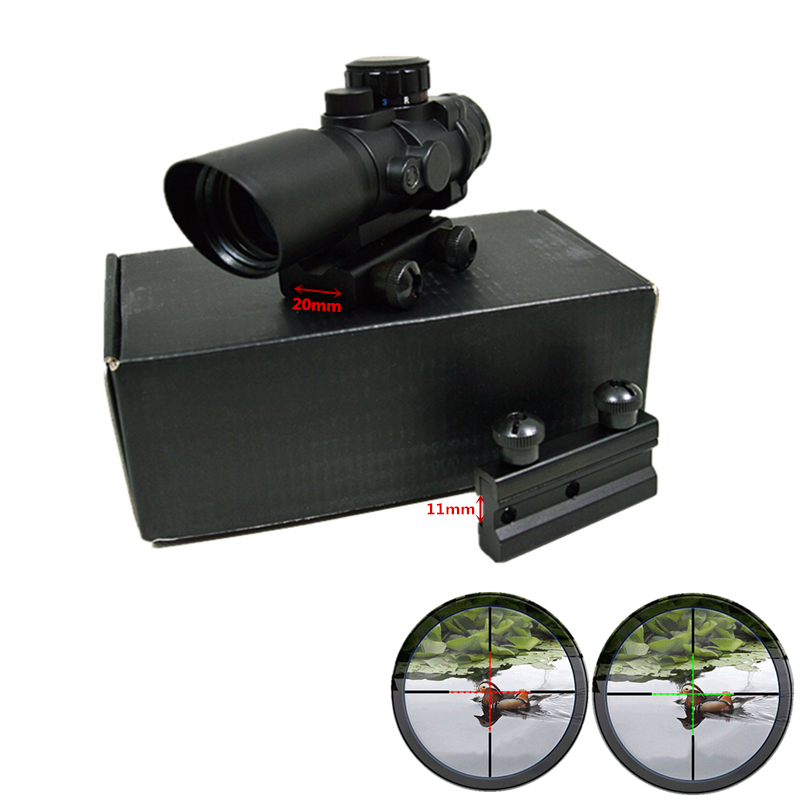 FIRECLUB 4X32 Mil Dot Width Dual Optical Sight Scope With Free Mounts