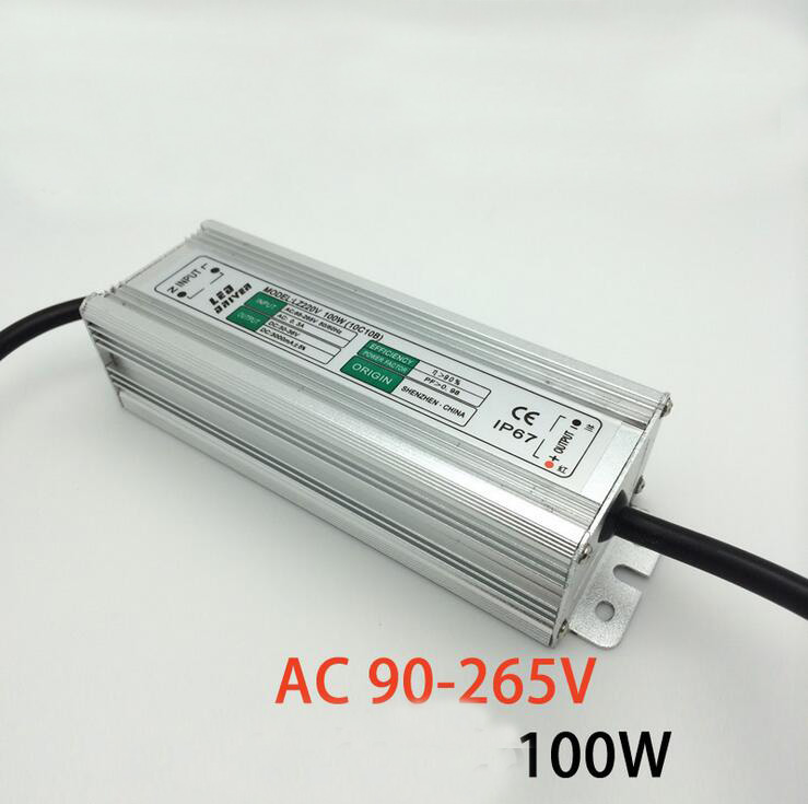 LED drive power 100W LZ constant current drive AC90-265V for Cast light lamp 10 series connection 10 parallel connection 100w 7000lm 525nm 100 led green light lamp module 10 series and 10 in parallel 30 34v