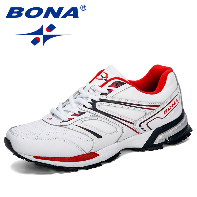 BONA 2019 New Style Men Running Shoes Breathable Outdoor Sports Shoes Sneakers Comfortable Athletic Training Footwear