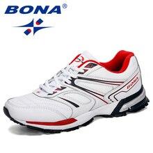 BONA 2019 Homens Novo Estilo de Corrida Sapatos Ao Ar Livre Respirável Calçado Desportivo Tênis Confortável Calçado de Treinamento Atlético Dos Homens Na Moda